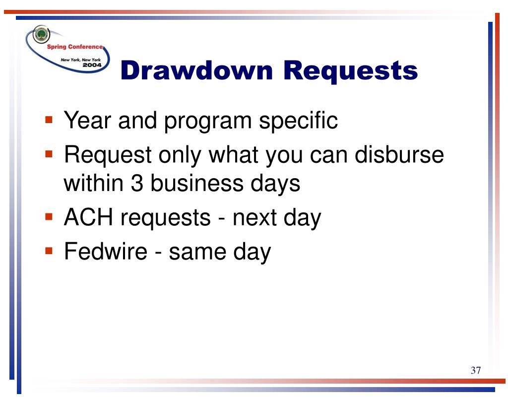 Drawdown Requests