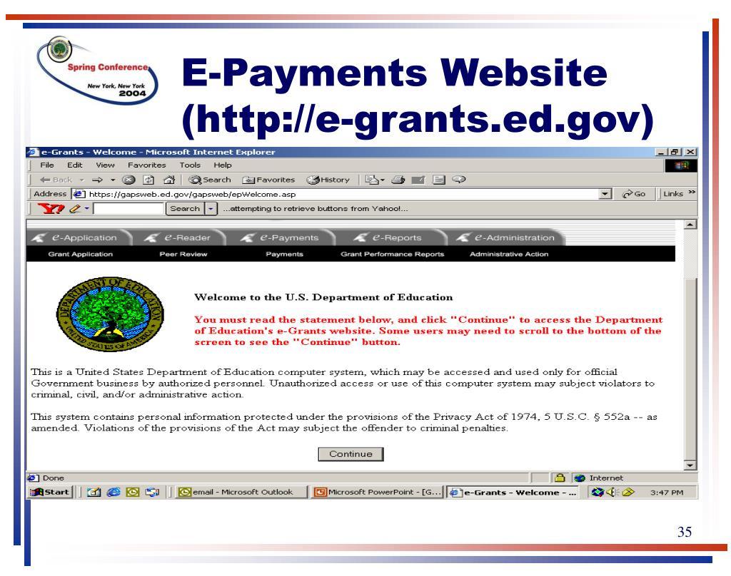 E-Payments Website