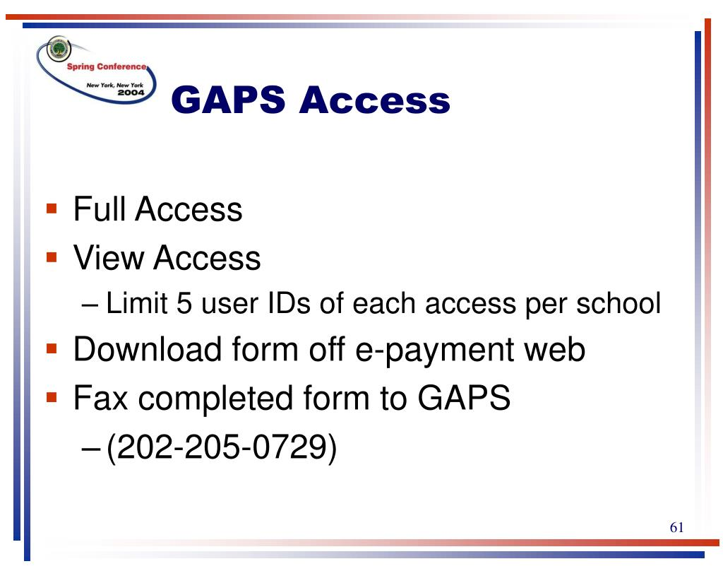 GAPS Access