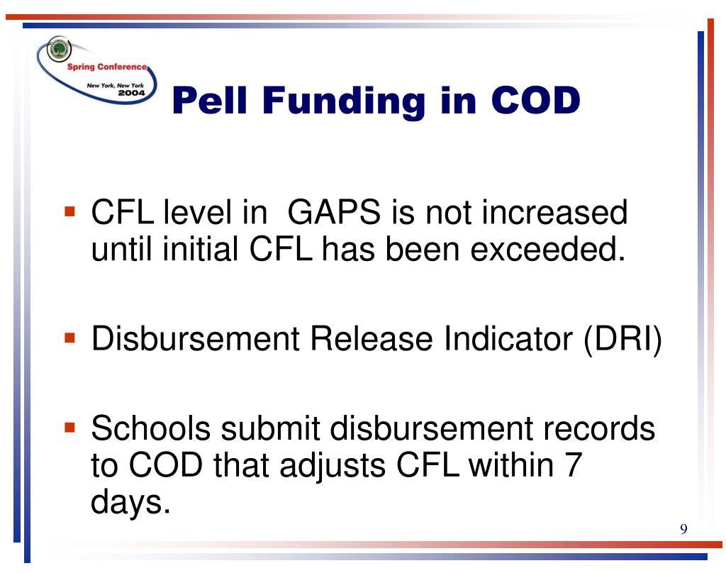 Pell Funding in COD