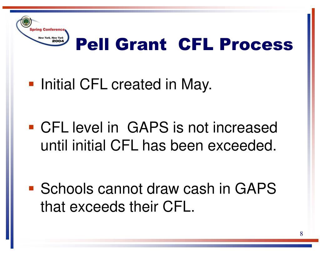Pell Grant  CFL Process