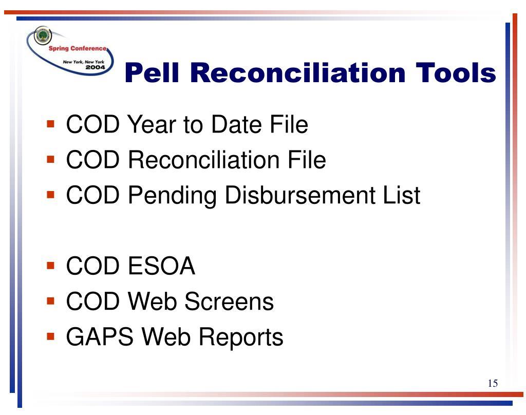 Pell Reconciliation Tools