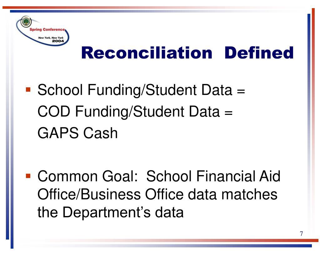Reconciliation  Defined