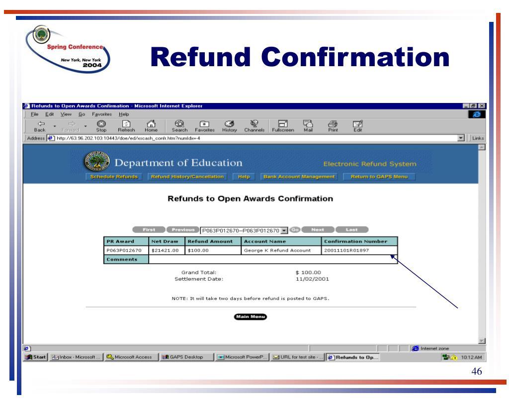Refund Confirmation