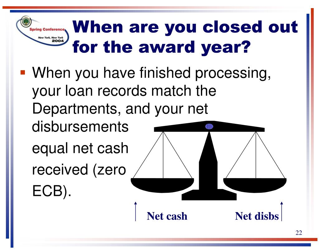 When are you closed out for the award year?