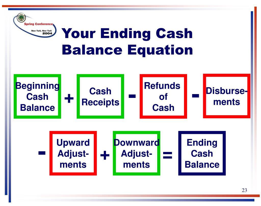 Your Ending Cash Balance Equation