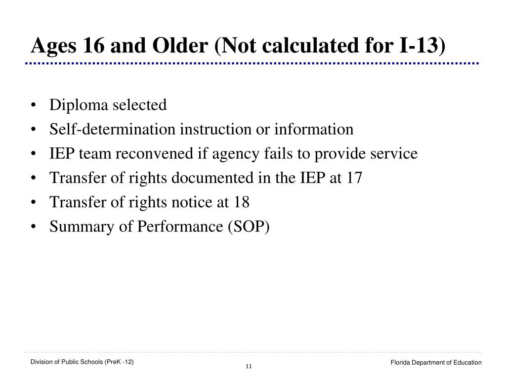 Ages 16 and Older (Not calculated for I-13)