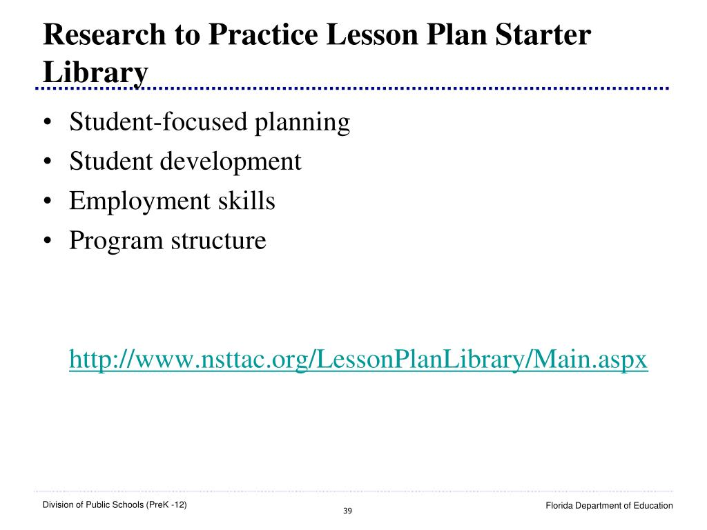 Research to Practice Lesson Plan Starter Library