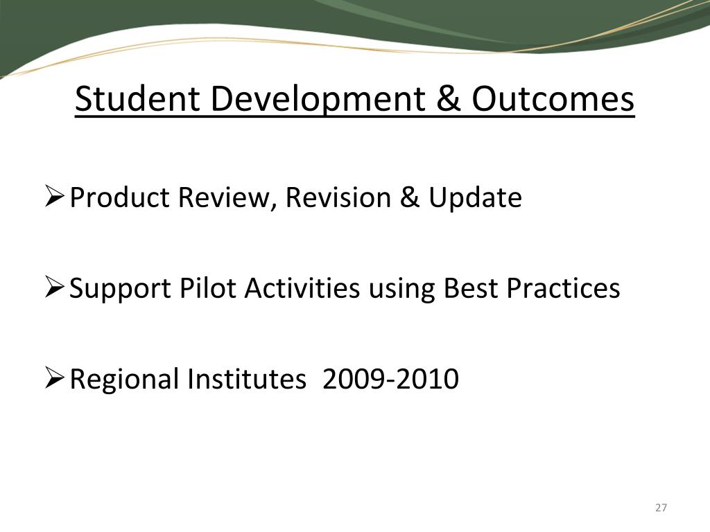 Student Development & Outcomes