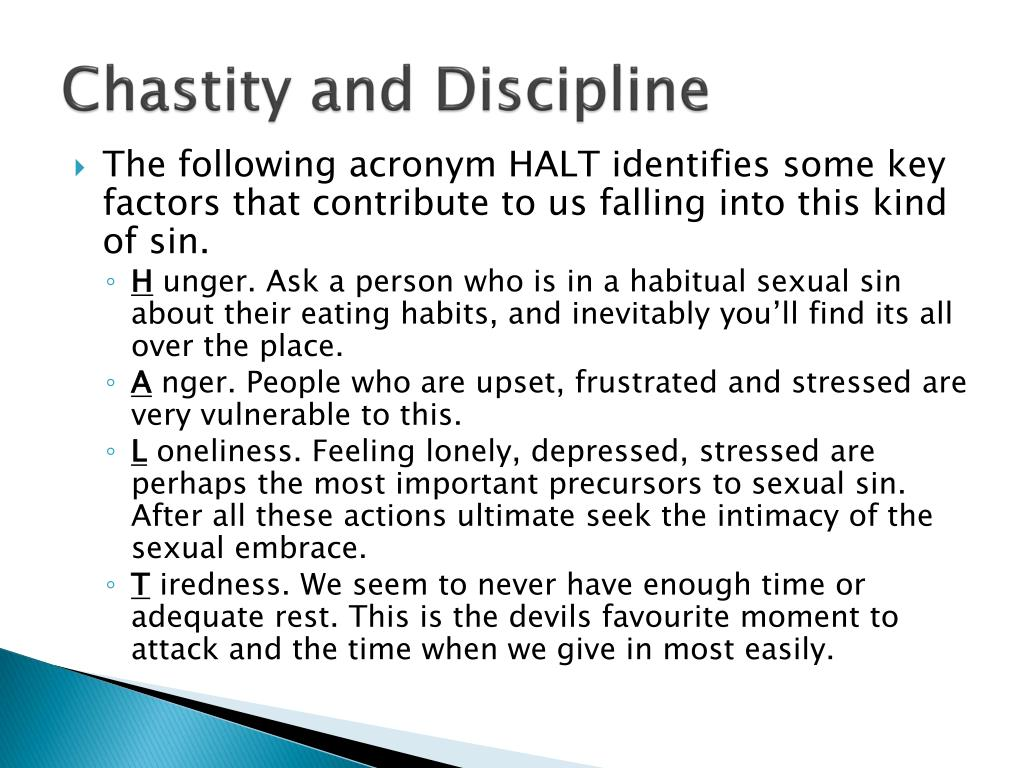 Chastity and Discipline