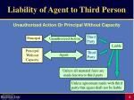 liability of agent to third person4
