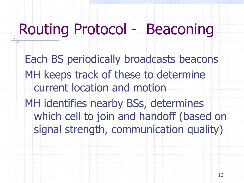 Routing Protocol -  Beaconing