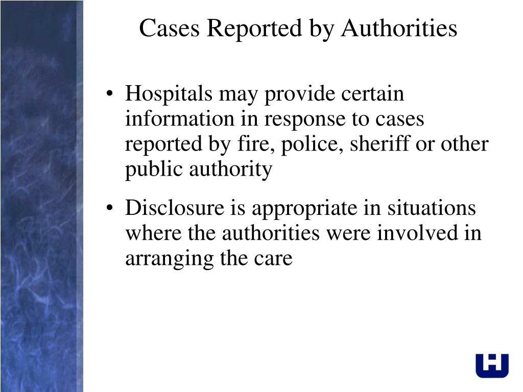 Cases Reported by Authorities