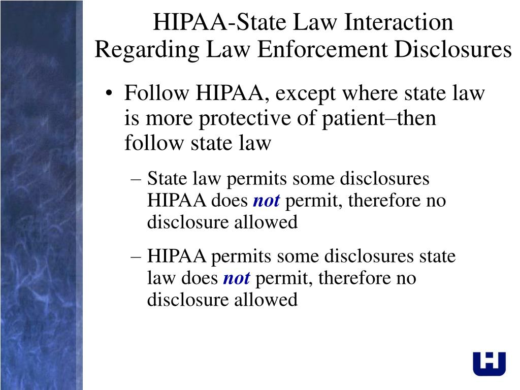 HIPAA-State Law Interaction