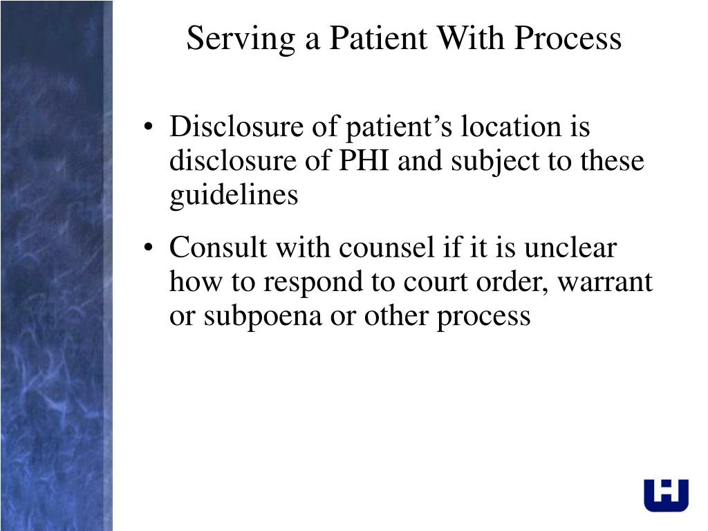 Serving a Patient With Process