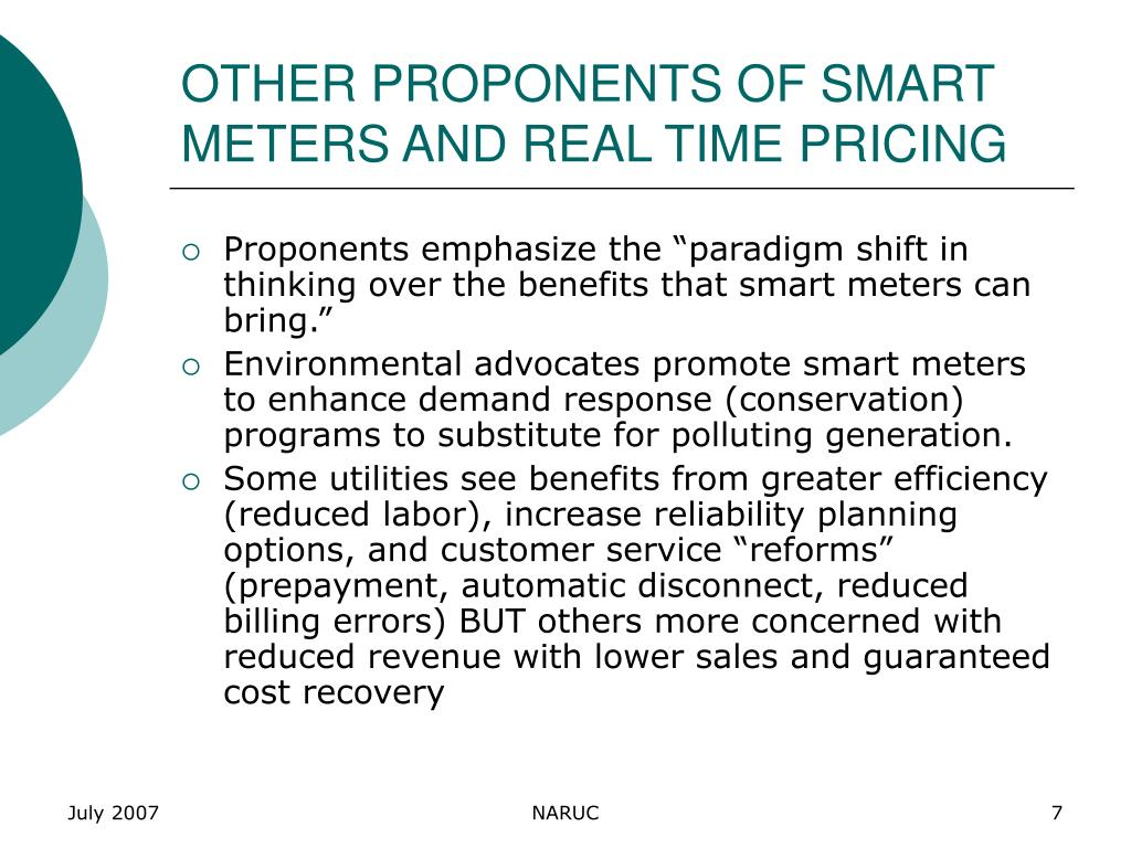 OTHER PROPONENTS OF SMART METERS AND REAL TIME PRICING