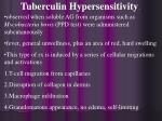 tuberculin hypersensitivity