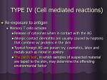 type iv cell mediated reactions50