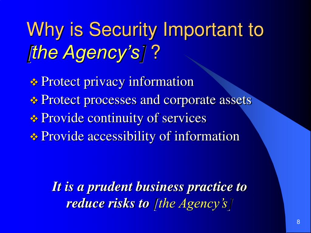 Why is Security Important to