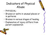 indicators of physical abuse