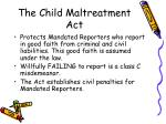 the child maltreatment act