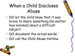 when a child discloses abuse22