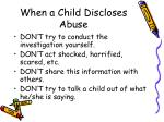 when a child discloses abuse23