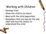 working with children