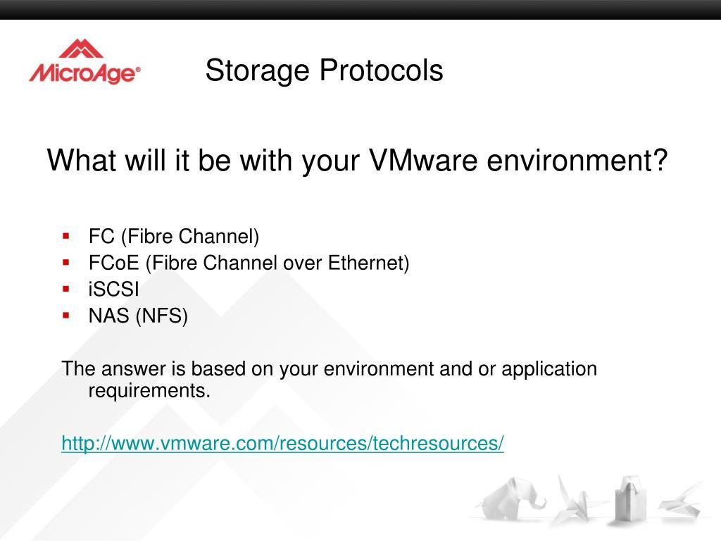 Storage Protocols