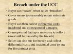 breach under the ucc
