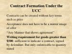contract formation under the ucc
