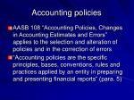 accounting policies25