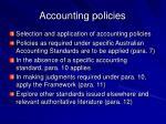 accounting policies27