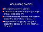 accounting policies28