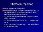 differential reporting11