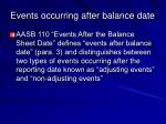 events occurring after balance date18
