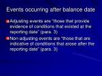 events occurring after balance date19