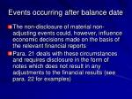 events occurring after balance date21