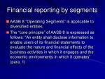 financial reporting by segments43