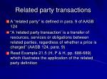 related party transactions37