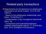 related party transactions38