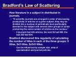 bradford s law of scattering