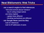 neat bibliometric web tricks