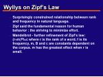 wyllys on zipf s law