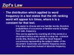 zipf s law