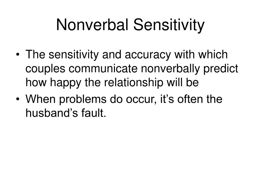 Nonverbal Sensitivity