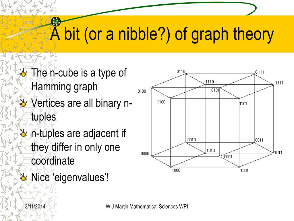 A bit (or a nibble?) of graph theory