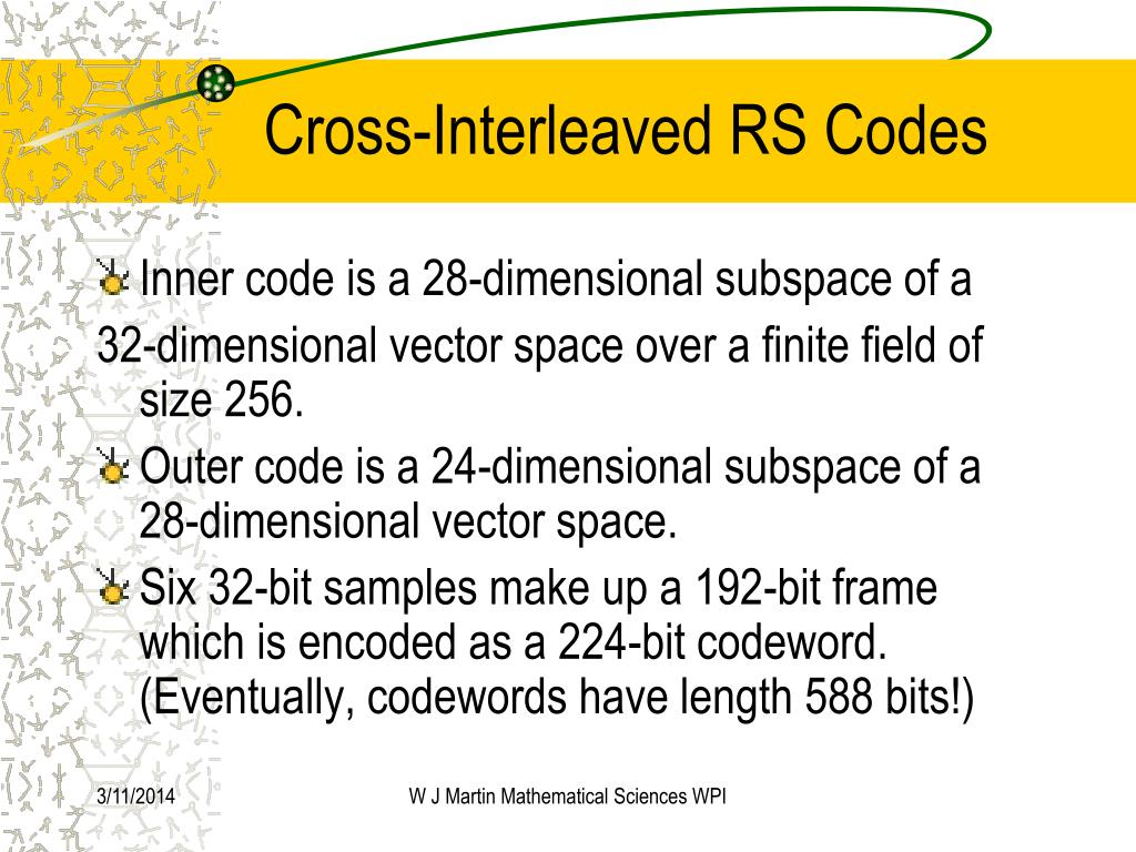 Cross-Interleaved RS Codes