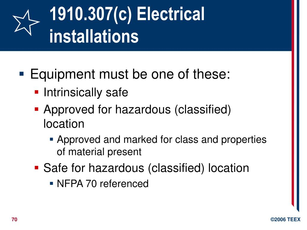 1910.307(c) Electrical installations
