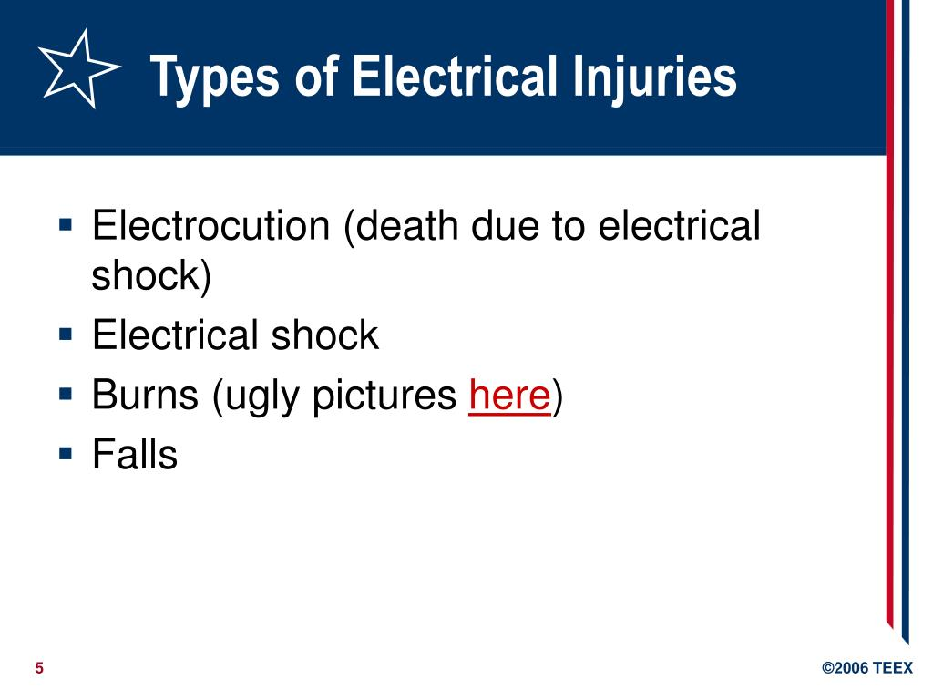 Types of Electrical Injuries